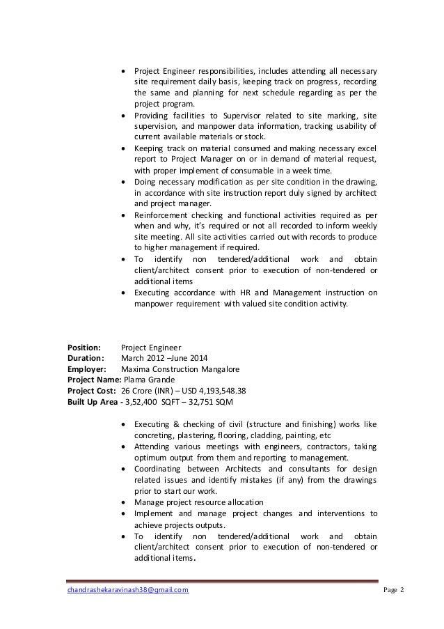 avinash chandrashekar-CV Slide 2