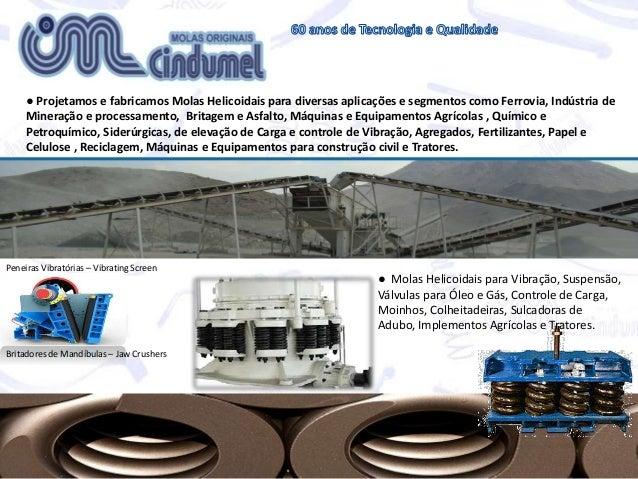 ● Projetamos e fabricamos Molas Helicoidais para diversas aplicações e segmentos como Ferrovia, Indústria de Mineração e p...