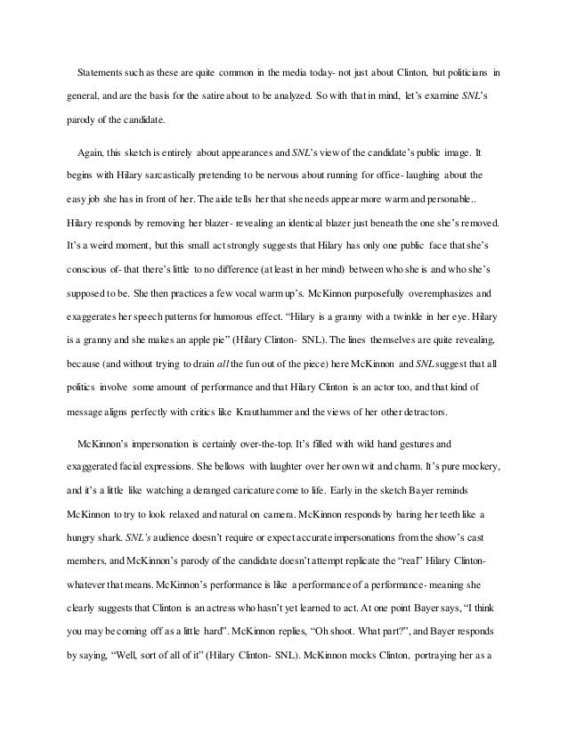 essay snl political satire 4