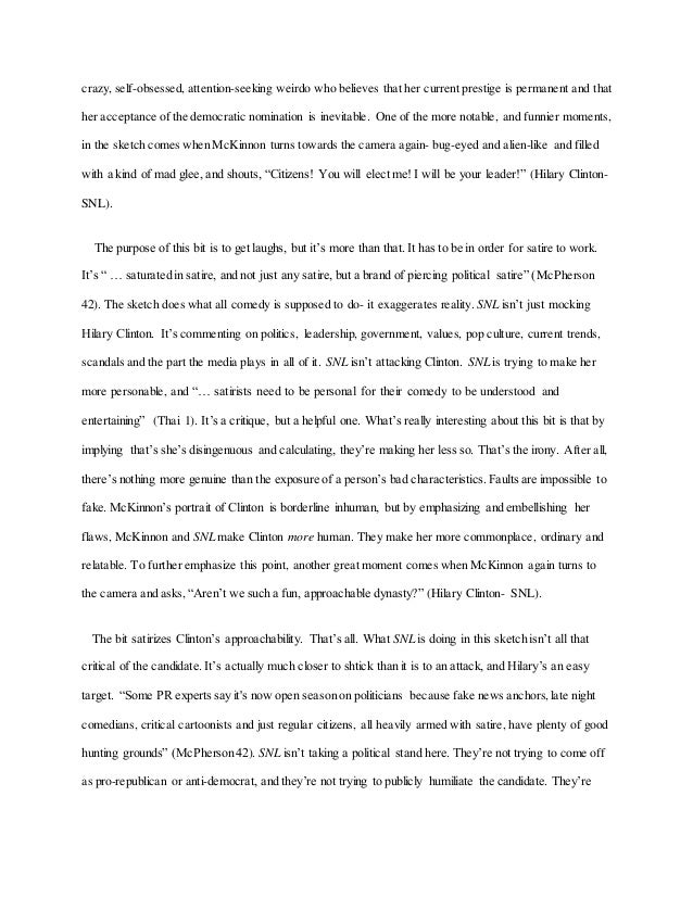 essay snl political satire 5