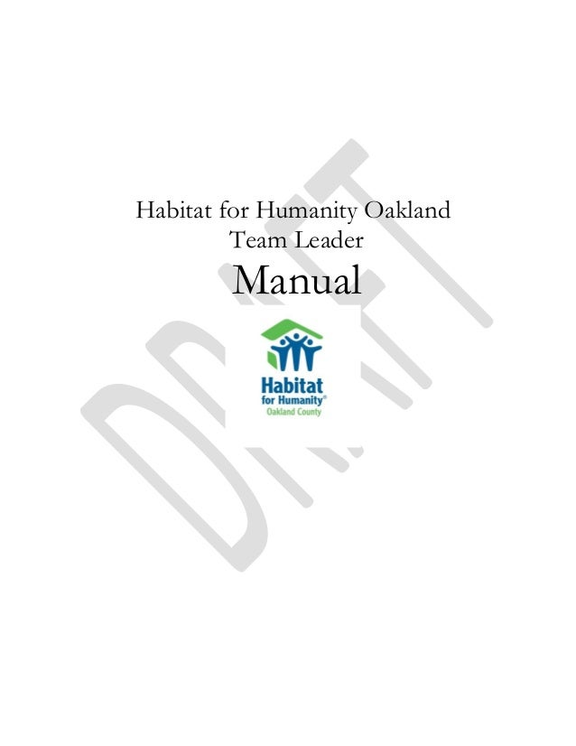 Habitat Team Leader Manual