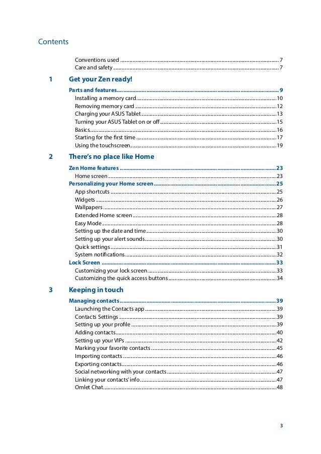 ASUS ZenPad S 8.0 Manual / User Guide Slide 3