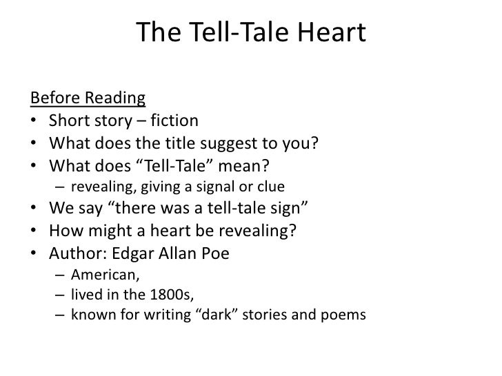 What Does Tell Tale Sign Mean