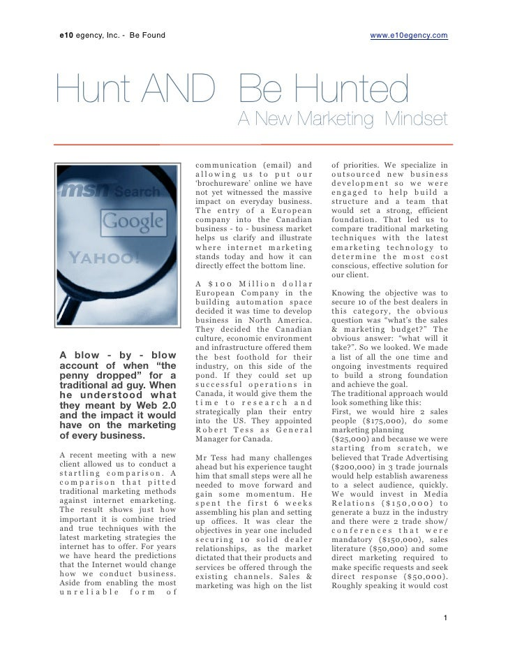 E10|Learn To Be Hunted
