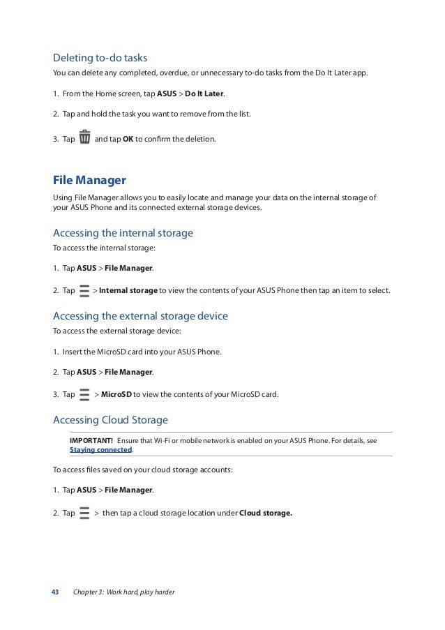 Asus zenfone 3 ZE552KL user manual