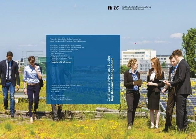 21 Hochschule für Wirtschaft CertificateofAdvancedStudies KeyAccountManagement Fachhochschule Nordwestschweiz FHNW Hochsc...
