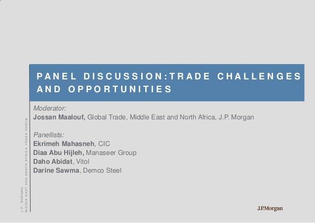 J P Morgan Iraq And Mena Trade Forum Tuesday 25 September