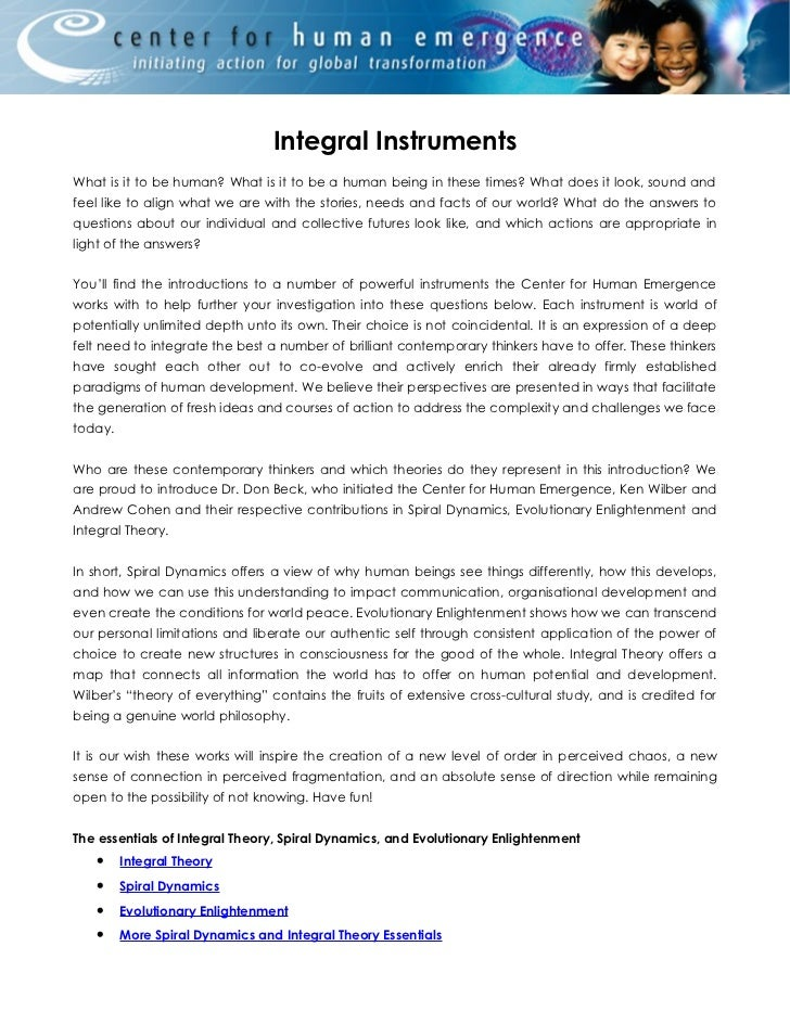 Integral InstrumentsWhat is it to be human? What is it to be a human being in these times? What does it look, sound andfee...