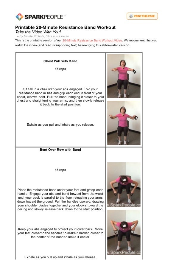 This is a photo of Refreshing Printable Resistance Bands Exercises