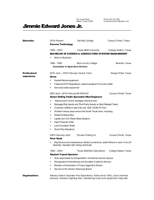 Awesome Agricultural Systems Management Resume Contemporary - Best ...