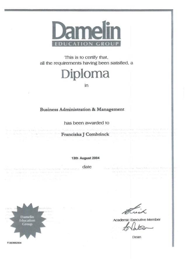 Dipl Business Management