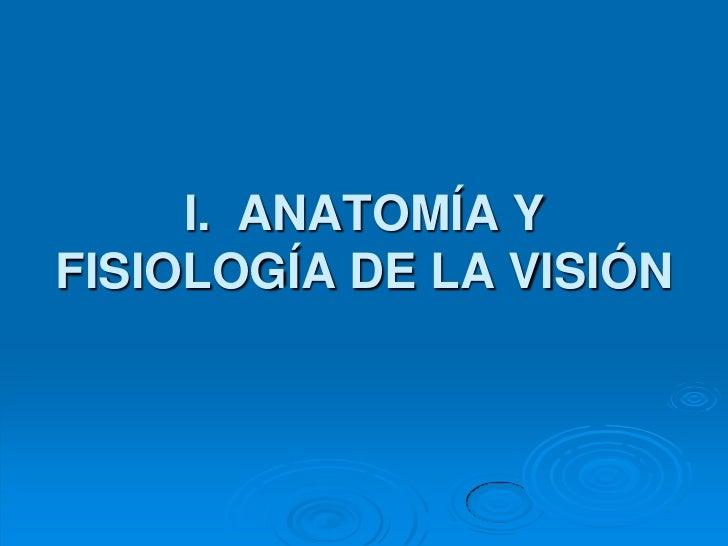 I. ANATOMÍA YFISIOLOGÍA DE LA VISIÓN