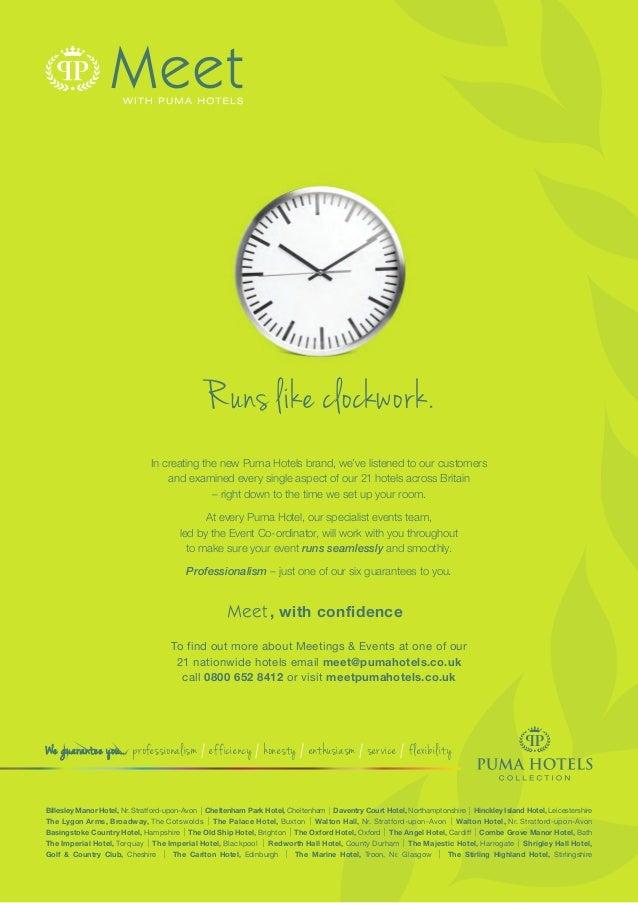 We guarantee you... professionalism / efficiency / honesty / enthusiasm / service / flexibility Billesley Manor Hotel, Nr....