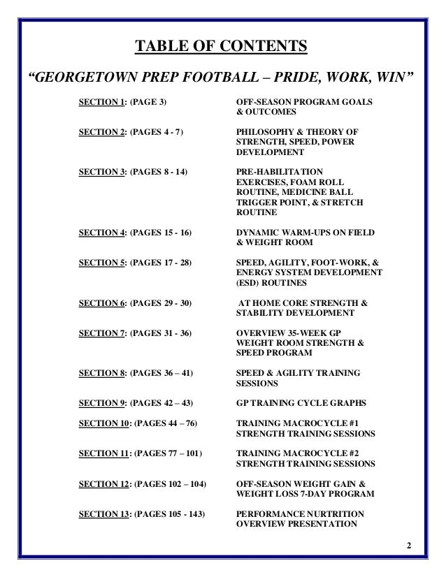 georgetown prep football manual 2015 16 3rd ed rh slideshare net TRX Core Workout Printable TRX Workout Chart