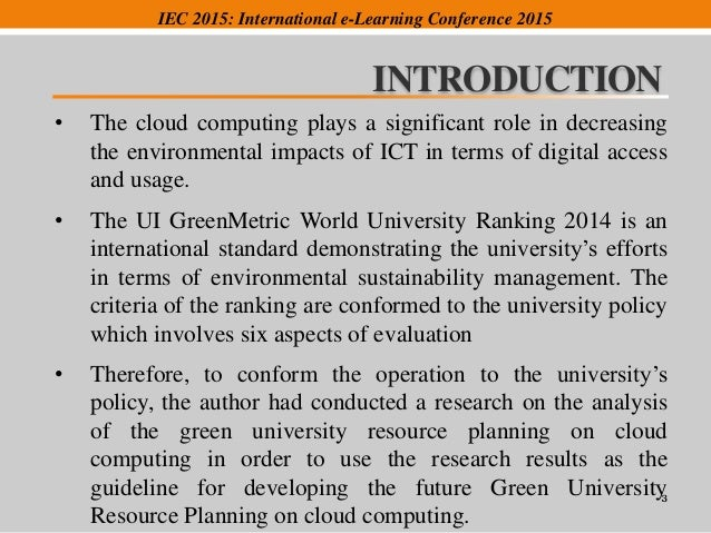 an introduction to the analysis of green computing Including a financial analysis and recommendations on what green computing  mba570c green computing research project lu  introduction to project.