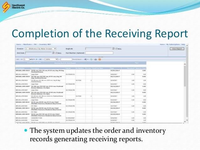 Receiving Procedures Template 001 Show
