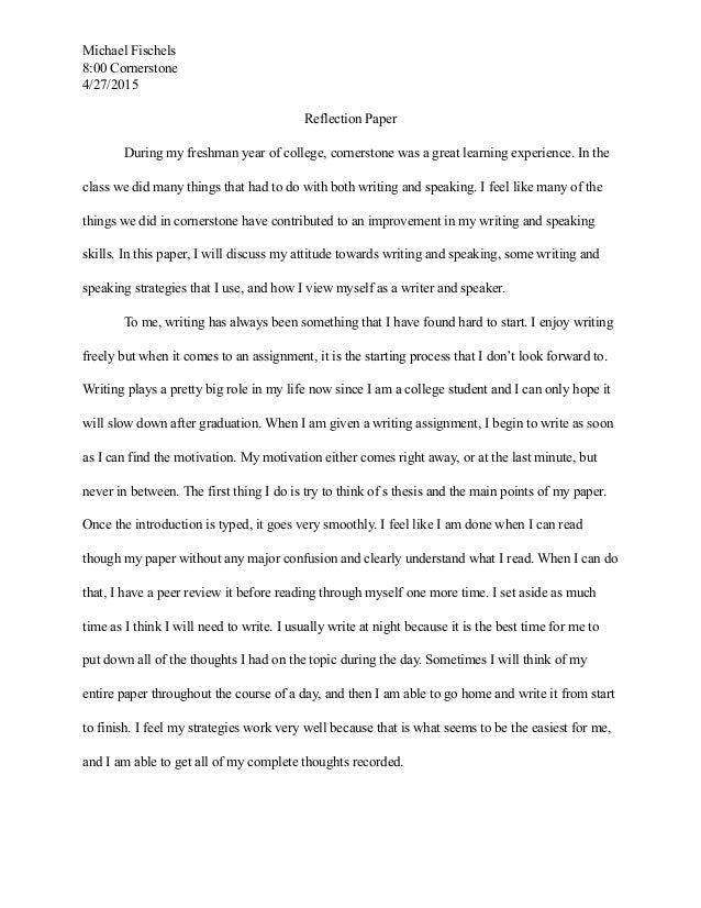 college freshman year essay