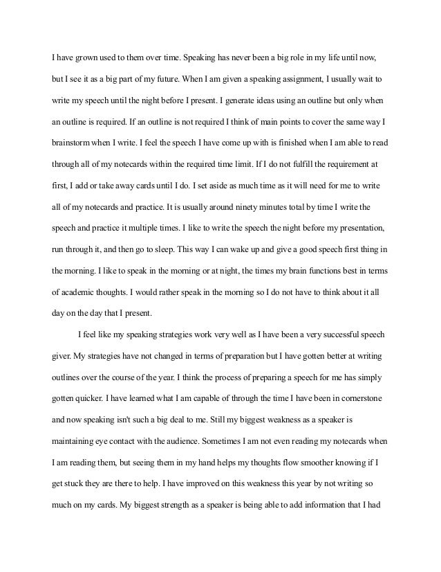 how to write a reflection paper on a class