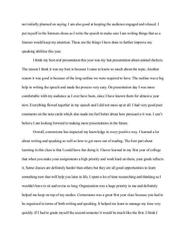 example of a reflection essay
