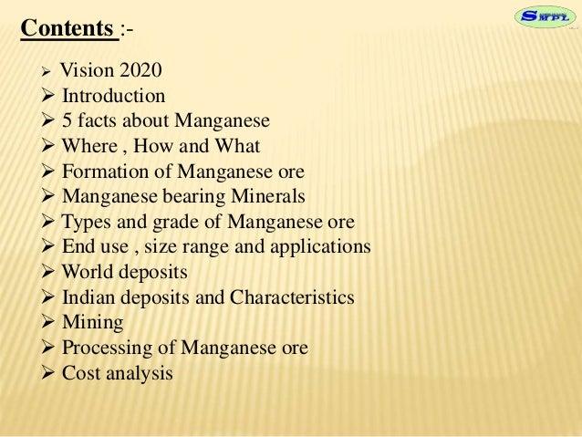 manganese beneficiation ppt Slide 2