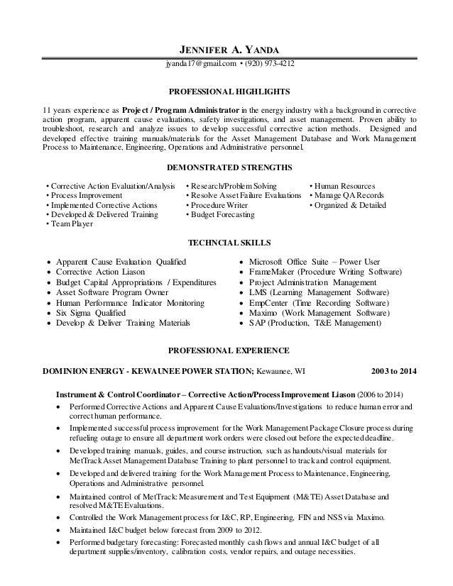 Jennifer Yanda Resume