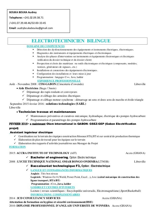 www.semantis.fr ELECTROTECHNICIEN BILINGUE DOMAINE DE COMPETENCES  Détection des dysfonctionnements des équipements et in...