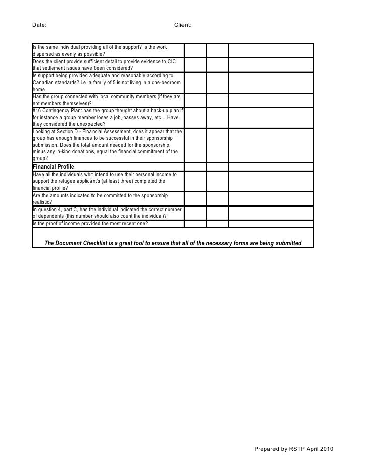 E1 a11 private refugee sponsorship applicationsg 5 checklist prepared by rstp april 2010 2 publicscrutiny Choice Image