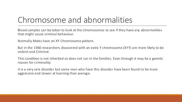 the biological explanations of crime The biological basis of crime 45 crime show greater concordance rates for criminality in mz as opposed to pz twins (raine 1993) if one averages concordance rates across all.