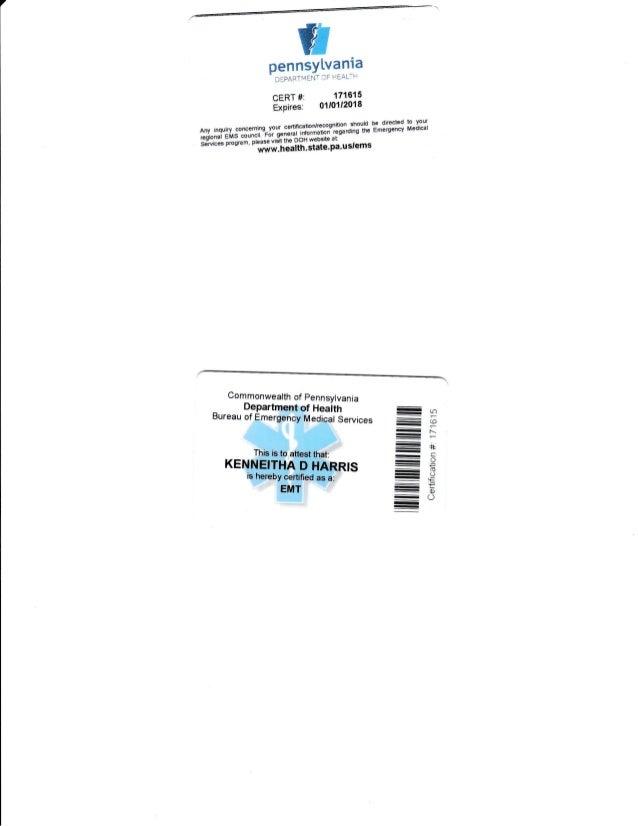 EMT- B Certification