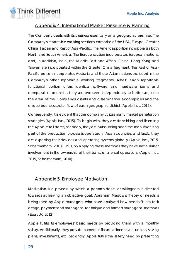 Apple Case Study Analysis - Academia.edu