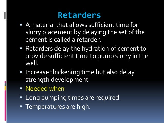 CEMENT SLURRY DESIGN