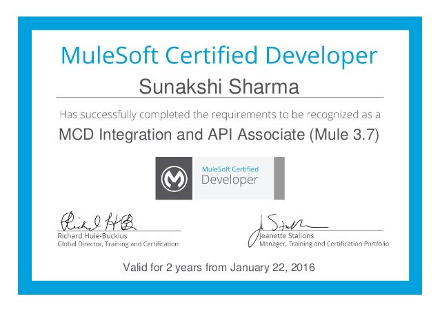 Mulesoft Certified Developer