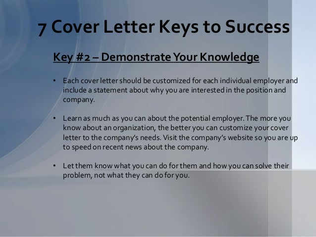 Building A Winning Cover Letter Presentation