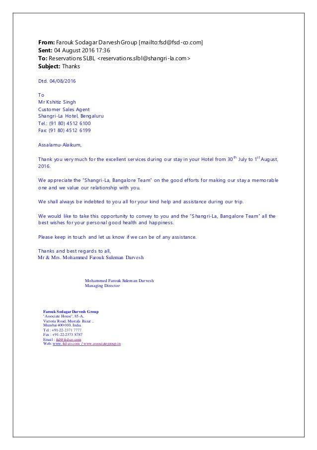 appreciation letter shangri