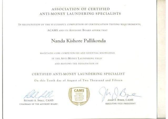 certificate acams