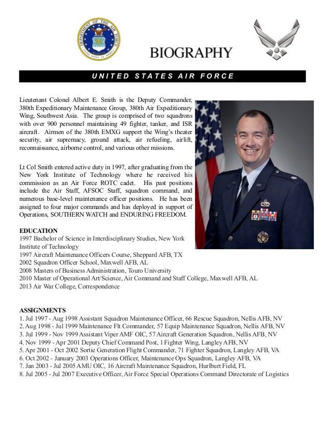 commander bio