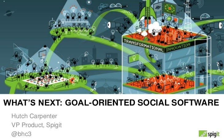 WHAT'S NEXT: GOAL-ORIENTED SOCIAL SOFTWARE Hutch Carpenter VP Product, Spigit @bhc3