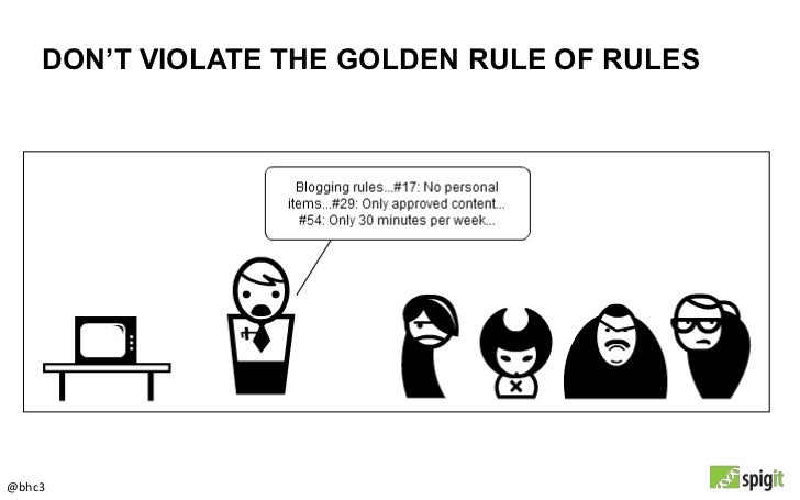 DON'T VIOLATE THE GOLDEN RULE OF RULES@bhc3