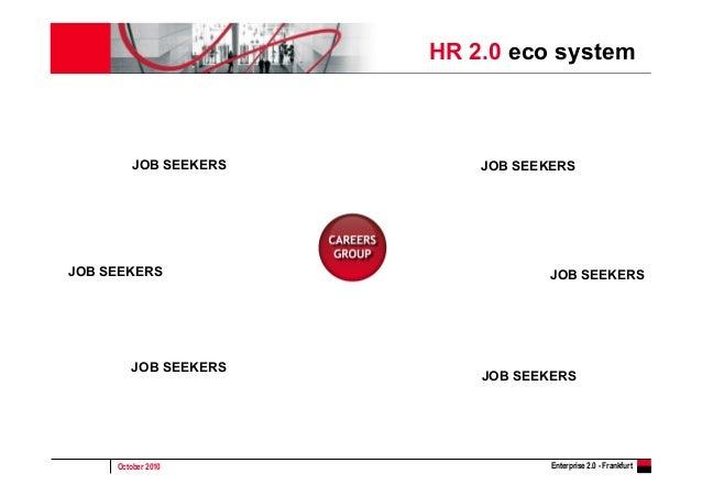 October 2010 Enterprise 2.0 - Frankfurt HR 2.0 eco system JOB SEEKERSJOB SEEKERS JOB SEEKERS JOB SEEKERS JOB SEEKERS JOB S...