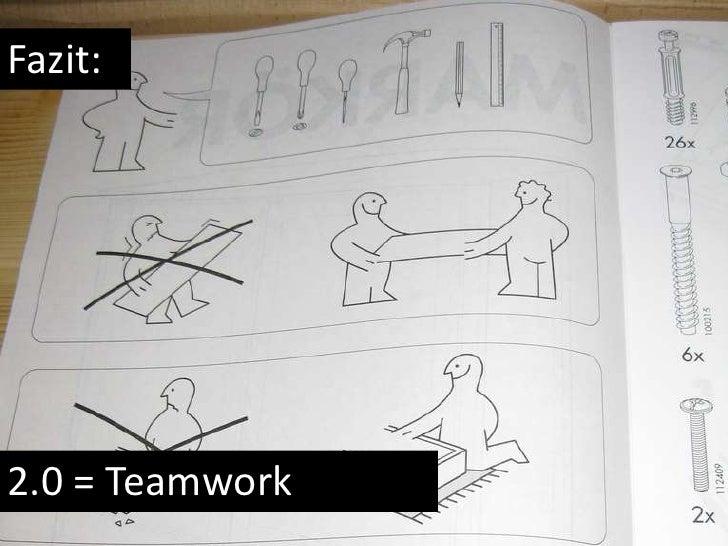 Fazit:<br />2.0 = Teamwork<br />