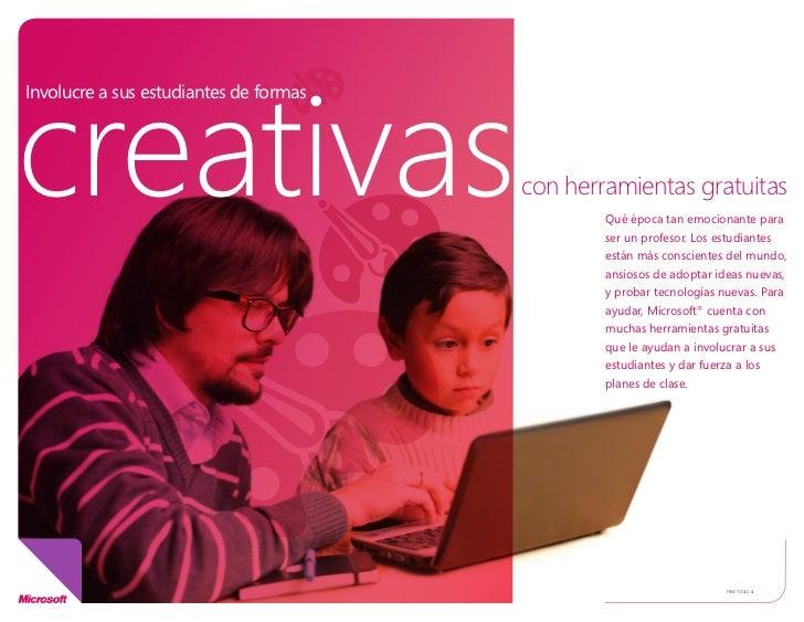 creativasInvolucre a sus estudiantes de formas                                        con herramientas gratuitas          ...