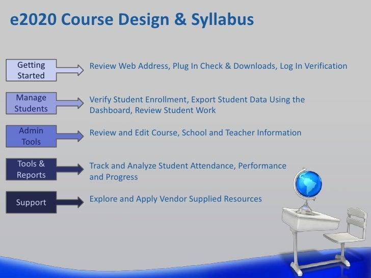 E2020 training syllabus na1