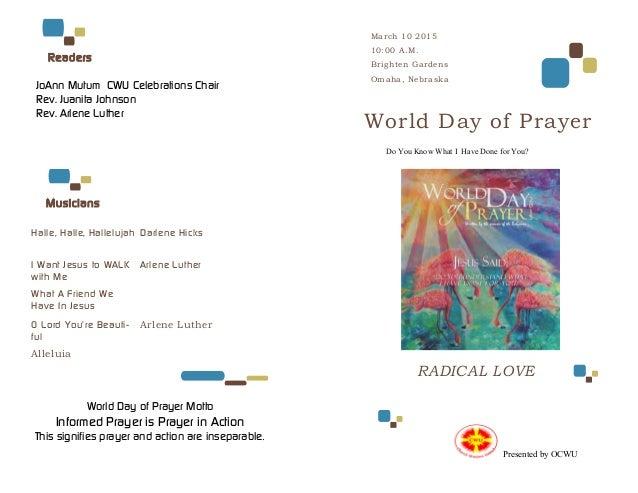 Brighten Gardens 2015 WDP Program. Halle, Halle, Hallelujah Darlene Hicks I  Want Jesus To WALK With Me What A ...