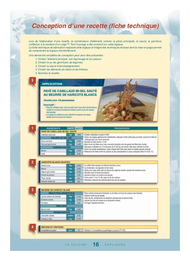 Fiche technique cuisine les fiches techniques un outil - Cuisine de reference pdf ...