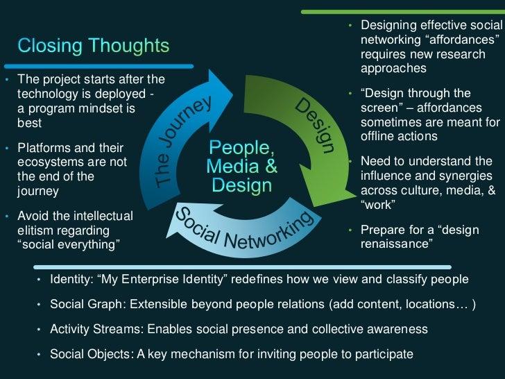 """• Designing effective social                                                                      networking """"affordances""""..."""