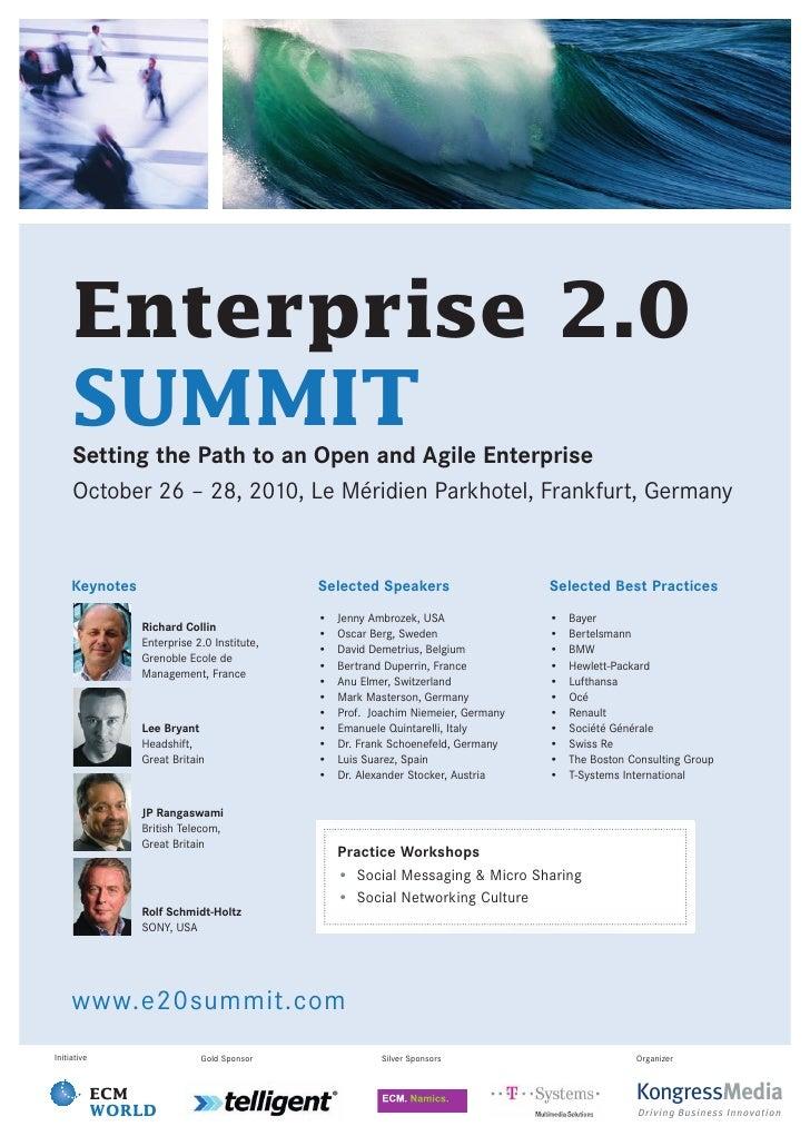 Enterprise 2.0 SUMMIT Conference Flyer