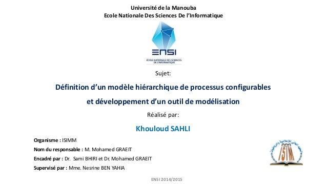 Sujet: Définition d'un modèle hiérarchique de processus configurables et développement d'un outil de modélisation Réalisé ...