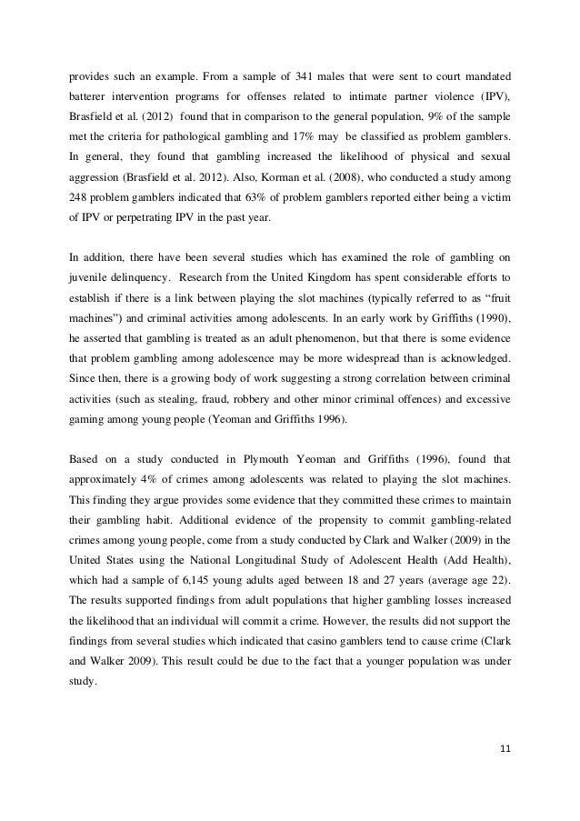 Griffiths gambling results gambling ten commandments