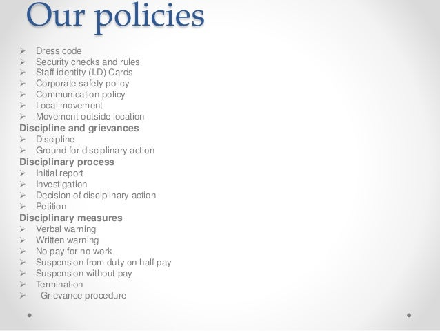 ... 19. Our Policies ...