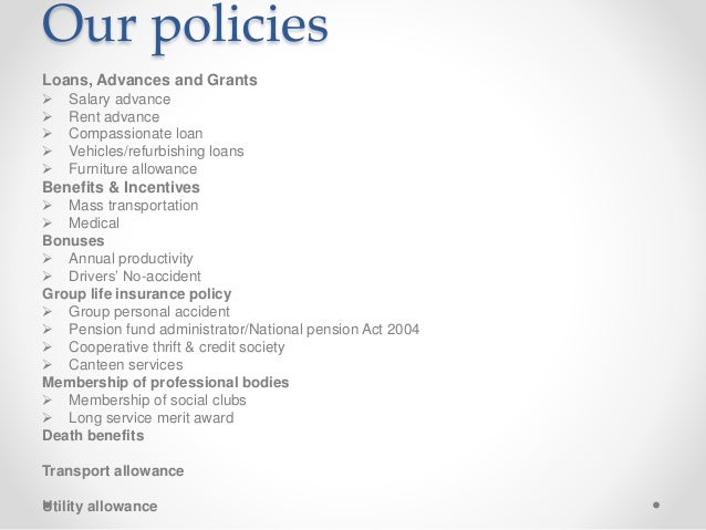 Company Policies As Reviewed Copy